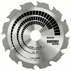 DISC CONSTRUCT WOOD 160x20/16X12T (GROSIER)
