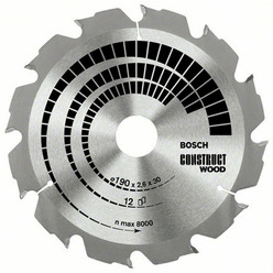 DISC CONSTRUCT WOOD 190X20/16X12T (GROSIER)